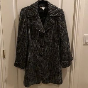 Soft wide weave cabi coat with big buttons